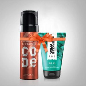 wild stone code copper hair gel combo