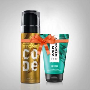 wild stone code gold hair gel combo